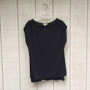 NWT Pleione black formal gold zipper blouse, XL